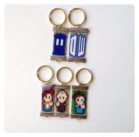 Doctor Who Keychains by kitsunesama7