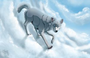 Playing in the clouds + Speedpaint by Sally-Ce