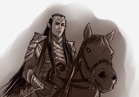 Cavalier Elrond by MellorianJ