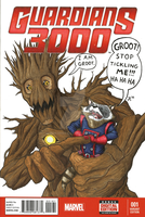 Groot and Rocket Guardians 3000 Sketch Cover by JMKohrs