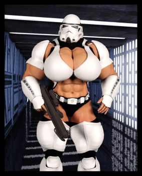 Aren't you a little buff for a stormtrooper? by REDACTED-ARTWORKZ