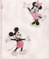 mickey and minnie by cassie28