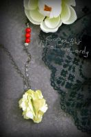 Canary Carnation: Vulva Necklace by VulvaLoveLovely