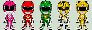 Mighty Morphin' Power Rangers The Movie Suits by spid3y916