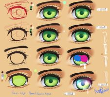 Step by Step Manga Eye Tut by Saviroosje