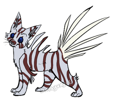 Lionfish cat auction adoptable - OPEN by Daisyvayle