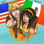 Gift: USA x OC Mexico by slouph