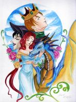 The princess and the dragon by Celina69
