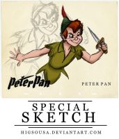 Special Sketch - PETER PAN by HigSousa