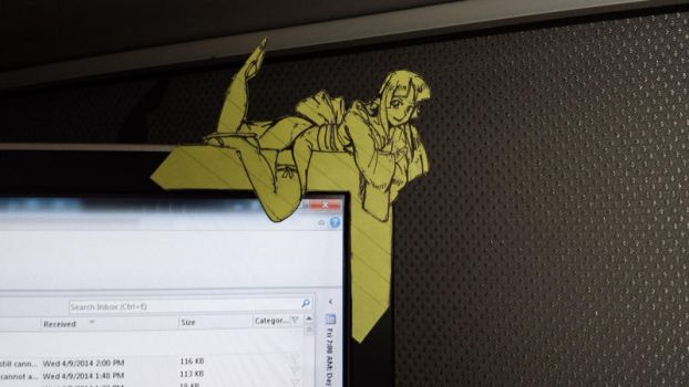 Post-It Monitor Decoration 04-09-14 #3 by Blademoor