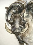 Hairy Warthog by HouseofChabrier