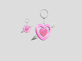 MMD Heart earrings by amiamy111