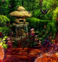 A Garden Amidst the Flames Detail 4 by amethystmoonsong