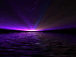 Northern Lights At Sea by Gibson125