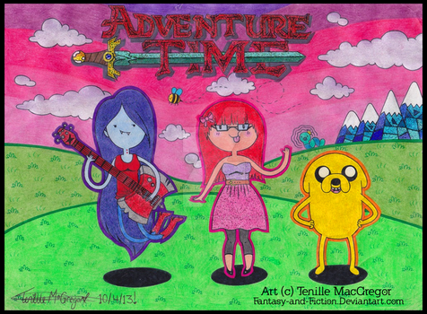 Adventure Time with Marcy Crystal and Jake! by Fantasy-and-Fiction