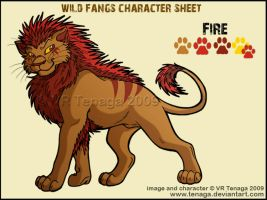 Wild Fangs Sheets_Fire by Tenaga
