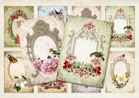 Vintage Tags Sheet by figandlily