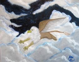 Griffon Upon The Clouds by x6tr2ni