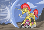 Golden Protector! by ArcheoPony