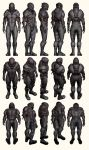 Mass Effect 2, Male Shepard Collector Armour Ref by Troodon80