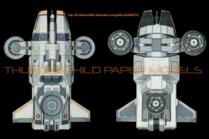 Mass Effect Hammerhead Paper model Top and Bottom by ThunderChildFTC
