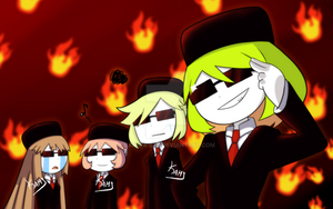 TGG: Yosafire and Friends in Black by Kamira-Exe
