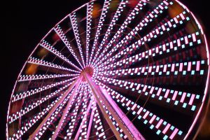 Checkered Ferris Wheel by TimeShifterX