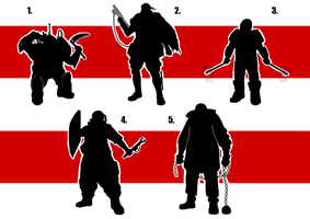 Character 2 development 1 silhouettes by digital-clown