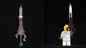 LEGO 3D Printed Painted Twilight Sword by mingles