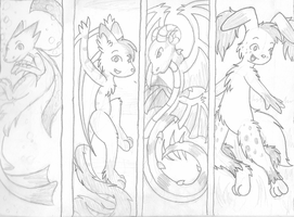 Bookmark Sketches by Hawkein
