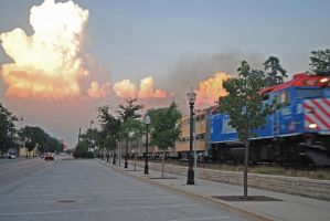 Cumulonimbus and Metra 7-21-11 by eyepilot13