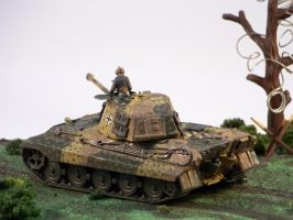 1/72 scale Panzer VII *Tiger II* 2nd view by Nixod321
