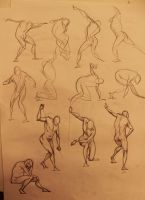 Life Drawing 30sec and 2min by marvelmania