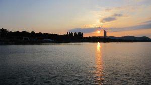 Donau with sunset by tomantic