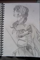 Simba and a Cartoon Girl by JSPete
