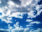 Bright Blue Sky And Clouds 2 by ArtmasterRich