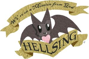 Hellsing chibi bat logo by hiddentalent1
