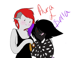 aura and bella by askthumper