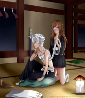 AT - Hitsugaya and Rin by MyangHime
