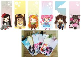 Chibi Bookmarks by drawingum