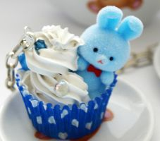 Blue Bunny Cupcake by AndyGlamasaurus