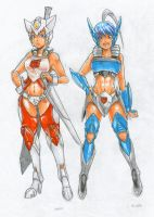 Humanized + Genderbender: Drift and Blurr by MZ15