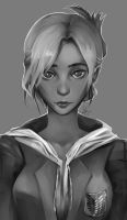 Daily Sketch 0039 Attack on Titan - Annie Leonhart by Shiro169