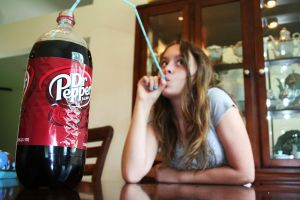 How 'I' drink my Dr. Pepper. by WonderlessQueen