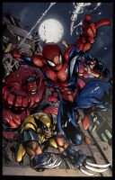 avenging spiderman color sample 2 by Dadapan
