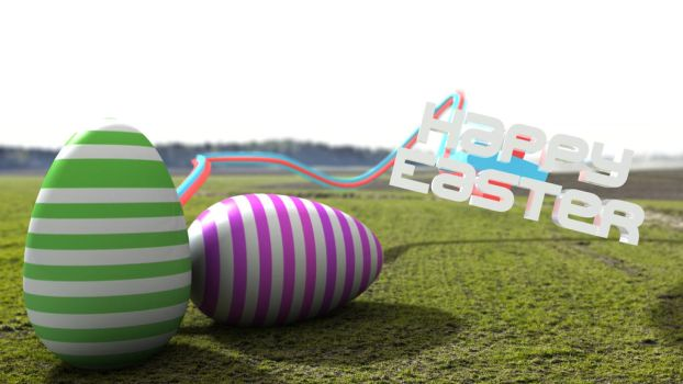 Happy Easter 3D Compositing by Bongcam