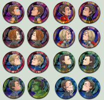 Avengers Kissing Cameo Buttons by oneoftwo