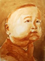 Me as baby by MauricioKanno