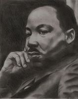 Martin Luther King Jr by egrka