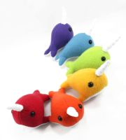 Small Rainbow Narwhals by BeeZee-Art